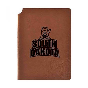 University of South Dakota Velour Journal with Pen Holder|Carbon Etched|Officially Licensed Collegiate Journal|
