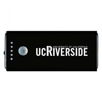 University of California, Riverside-Portable Cell Phone 5200 mAh Power Bank Charger -Black