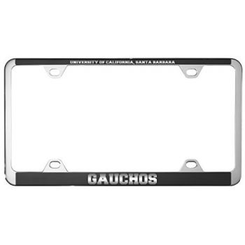 University of California, Santa Barbara-Metal License Plate Frame-Black