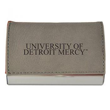 Velour Business Cardholder-University of Detroit Mercy-Grey
