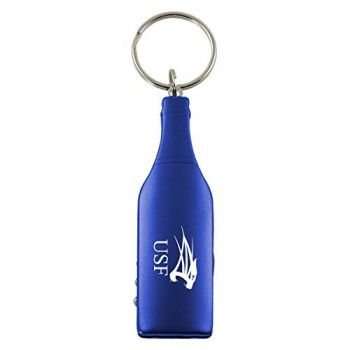 University of Saint Francis-Fort Wayne-Wine Shaped Bottle Opener-Blue