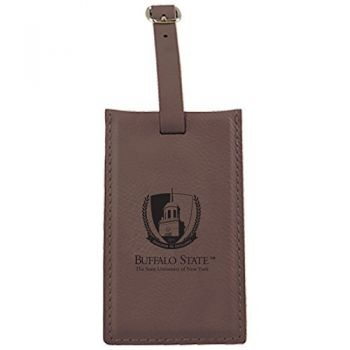 Buffalo State University - The State University of New York -Leatherette Luggage Tag-Brown