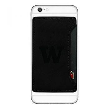 University of Washington-Cell Phone Card Holder-Black