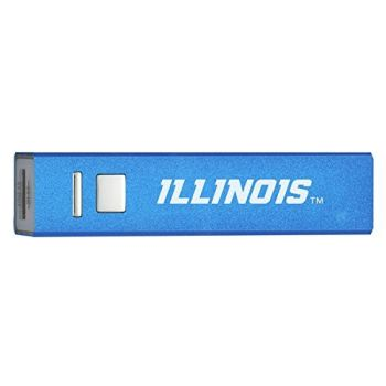 University of Illinois at Urbana–Champaign - Portable Cell Phone 2600 mAh Power Bank Charger - Blue