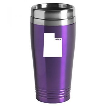 16 oz Stainless Steel Insulated Tumbler - Utah State Outline - Utah State Outline