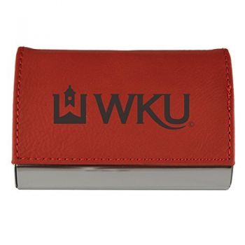 Velour Business Cardholder-Western Kentucky University-RED