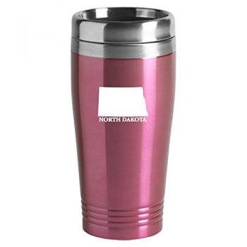 16 oz Stainless Steel Insulated Tumbler - North Dakota State Outline - North Dakota State Outline