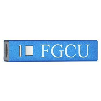 Florida Gulf Coast University - Portable Cell Phone 2600 mAh Power Bank Charger - Blue
