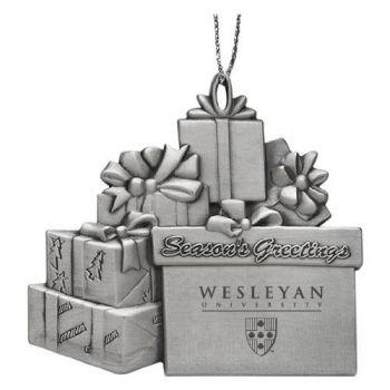Wesleyan University - Pewter Gift Package Ornament