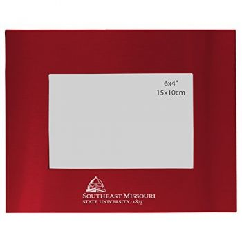 Southeast Missouri State University - 4x6 Brushed Metal Picture Frame - Red