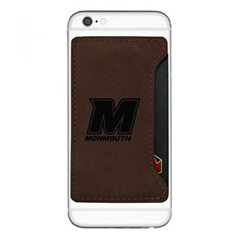 Monmouth University-Cell Phone Card Holder-Brown