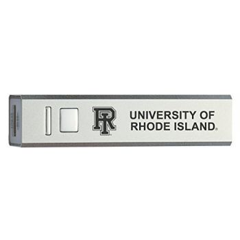University of Rhode Island - Portable Cell Phone 2600 mAh Power Bank Charger - Silver