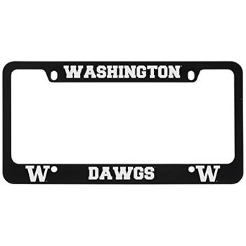 University of Washington-Metal License Plate Frame-Black