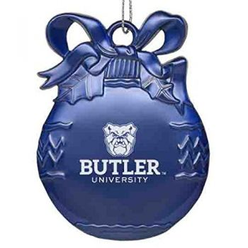 Butler University - Pewter Christmas Tree Ornament - Blue