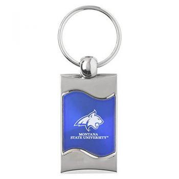 Montana State University - Wave Key Tag - Blue