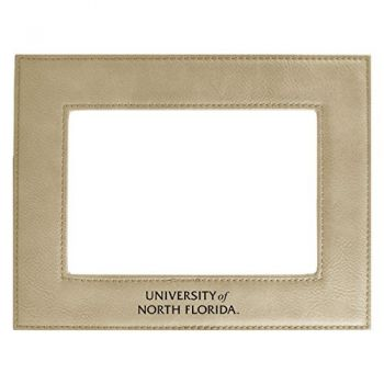 University of North Florida-Velour Picture Frame 4x6-Tan
