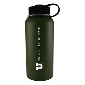 University of Utah-32 oz. Travel Tumbler-Gun Metal
