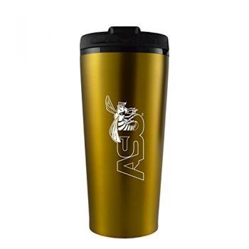 Alabama State University -16 oz. Travel Mug Tumbler-Gold
