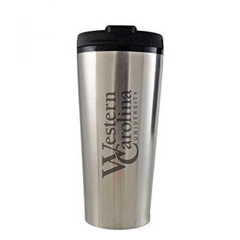 Western Carolina University -16 oz. Travel Mug Tumbler-Silver