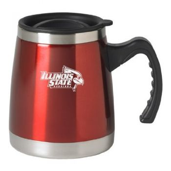Illinois State University - 16-ounce Squat Travel Mug Tumbler - Red