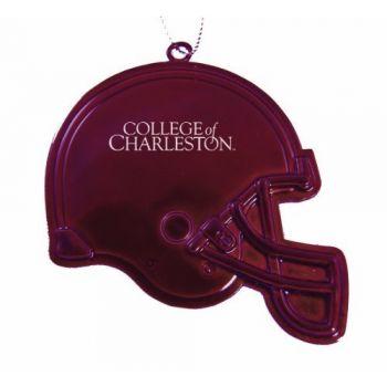 College of Charleston - Christmas Holiday Football Helmet Ornament - Burgundy