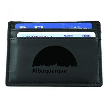 Slim Wallet with Money Clip - Albuquerque City Skyline
