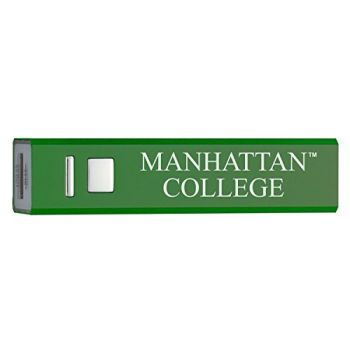 Manhattan College - Portable Cell Phone 2600 mAh Power Bank Charger - Green