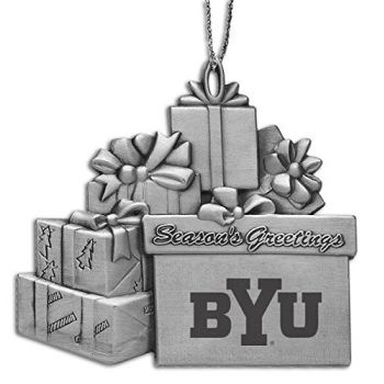 Brigham Young University - Pewter Gift Package Ornament