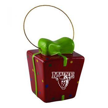 University of Maine-3D Ceramic Gift Box Ornament