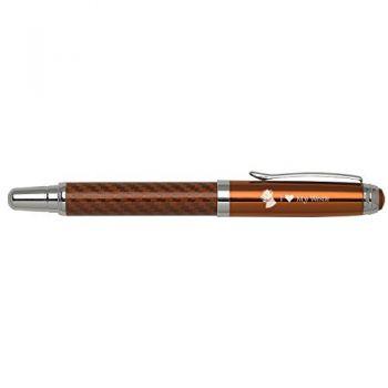 Carbon Fiber Rollerball Pen-I love my Westie-Orange