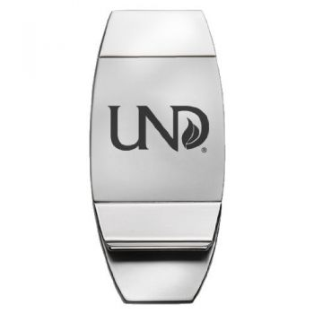 University of North Dakota - Two-Toned Money Clip - Silver