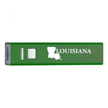 Louisiana-State Outline-Portable 2600 mAh Cell Phone Charger-