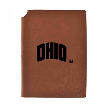 Ohio University Velour Journal with Pen Holder|Carbon Etched|Officially Licensed Collegiate Journal|