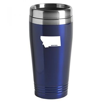 16 oz Stainless Steel Insulated Tumbler - Montana State Outline - Montana State Outline