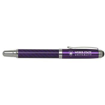 Weber State University - Carbon Fiber Rollerball Pen - Purple