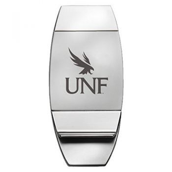 University of North Florida - Two-Toned Money Clip - Silver