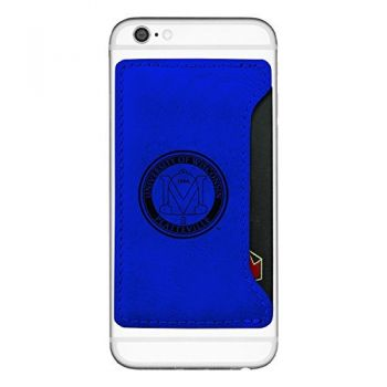 University of Wisconsin-Platteville-Cell Phone Card Holder-Blue