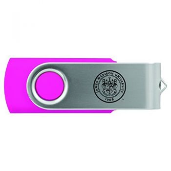 James Madison University-8GB 2.0 USB Flash Drive-Pink