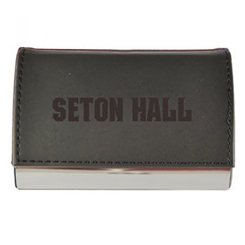 Velour Business Cardholder-Seton Hall University-Black
