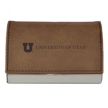 Velour Business Cardholder-University of Utah-Brown