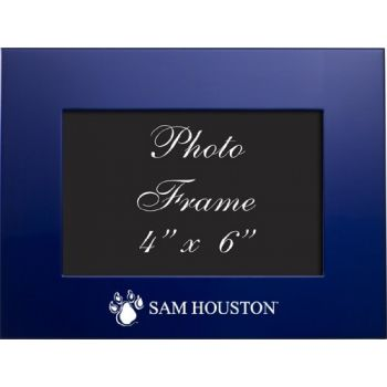 Sam Houston State University - 4x6 Brushed Metal Picture Frame - Blue