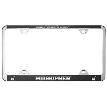 United States Naval Academy -Metal License Plate Frame-Black