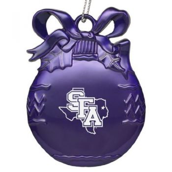 Stephen F. Austin State University - Pewter Christmas Tree Ornament - Purple