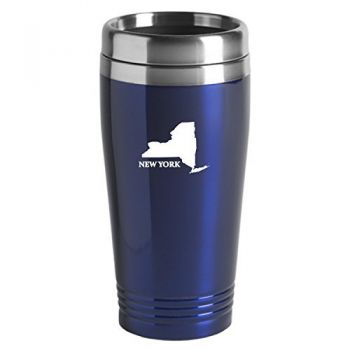 16 oz Stainless Steel Insulated Tumbler - New York State Outline - New York State Outline