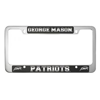 George Mason University -Metal License Plate Frame-Black