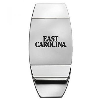 East Carolina University - Two-Toned Money Clip - Silver