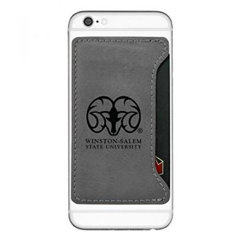 Winston-Salem State University-Cell Phone Card Holder-Grey