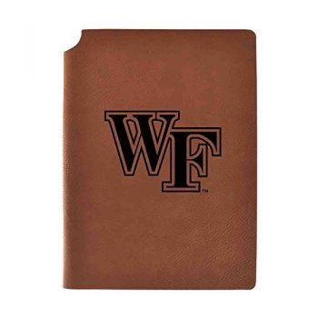 Wake Forest University Velour Journal with Pen Holder|Carbon Etched|Officially Licensed Collegiate Journal|