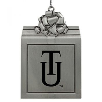 Tuskegee University -Pewter Christmas Holiday Present Ornament-Silver