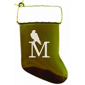 University of Montevallo - Christmas Holiday Stocking Ornament - Gold